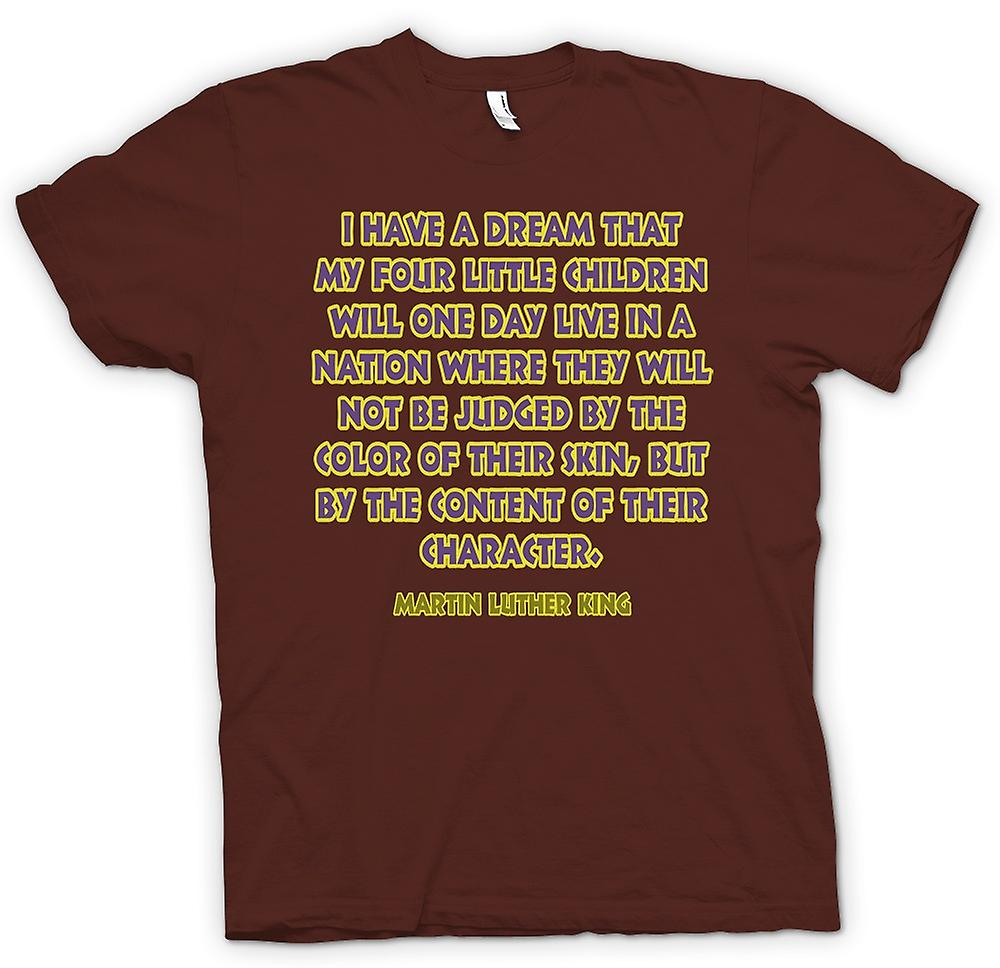 T-shirt des hommes - je fais le rêve que mes quatre enfants - Martin L King