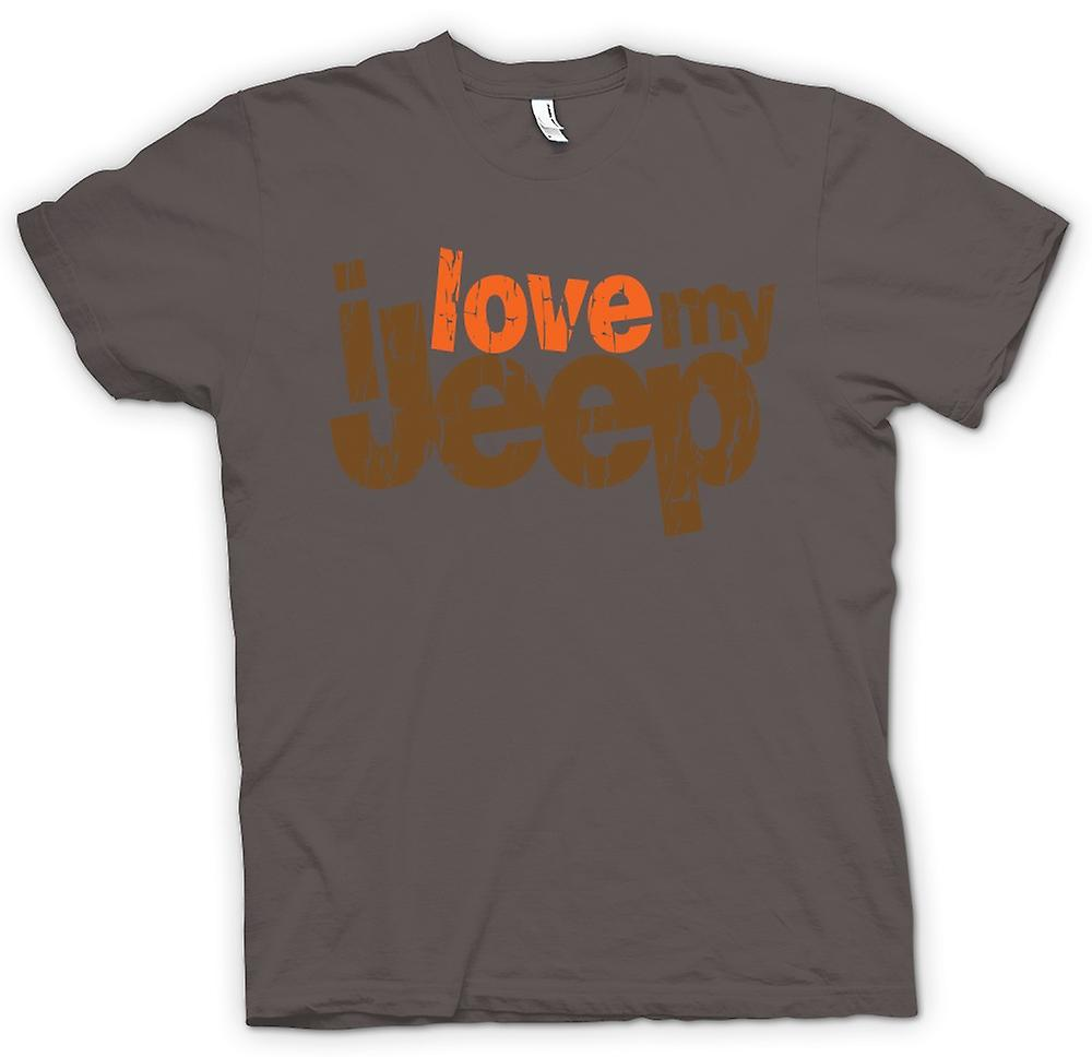 Mens T-shirt - I Love My Jeep - Car Enthusiast