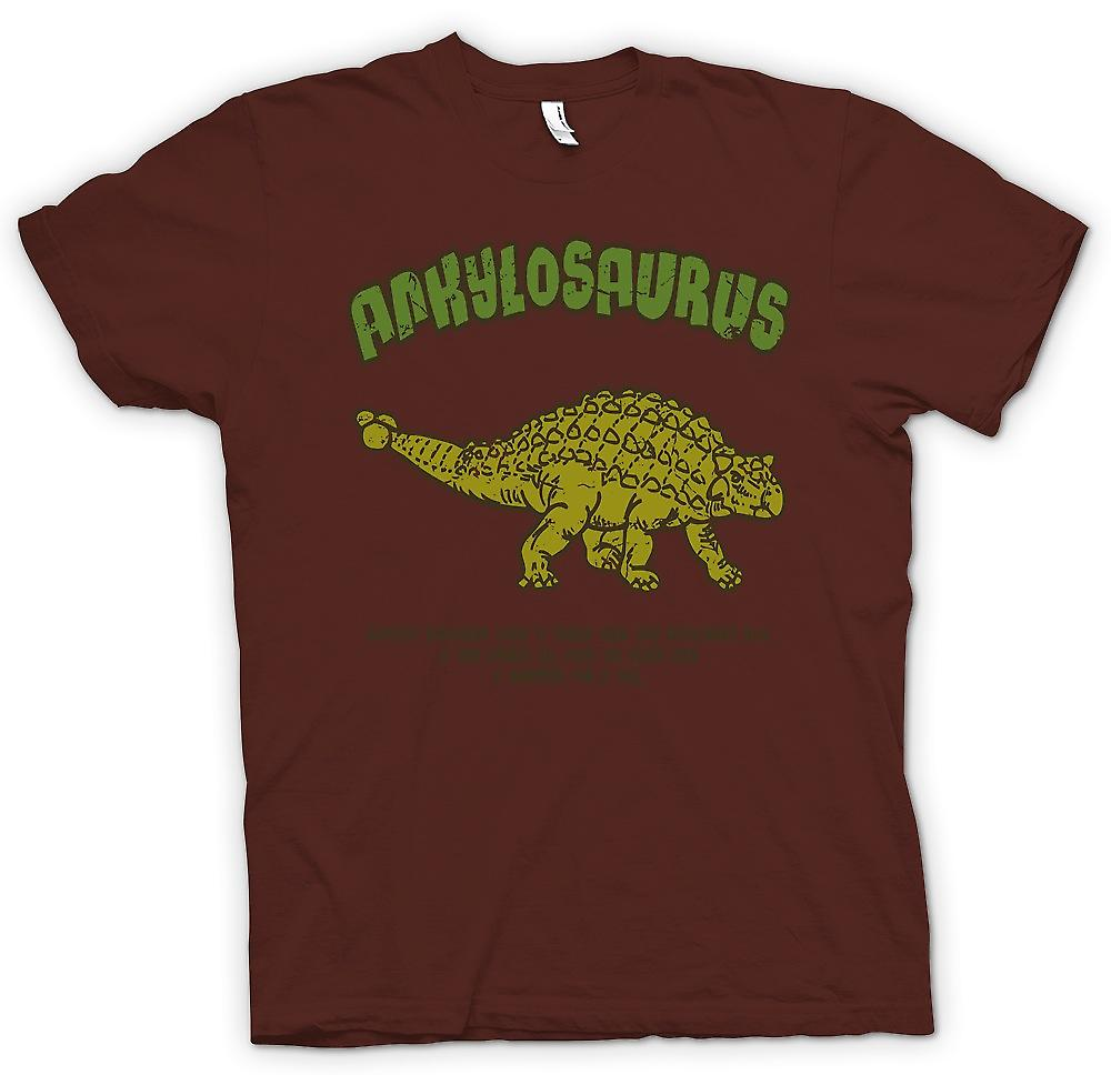 Mens T-shirt - Ankylosaurus - plus cool dinosaure jamais - marteau pour une queue