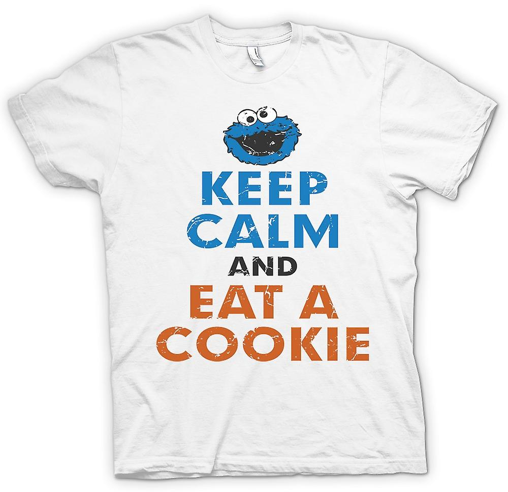 Camiseta mujer - mantener la calma y comer una galleta - Cookie Monster