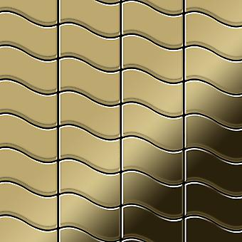 Mosaico de metal sólido Titanio ALLOY Flux-Ti-GM