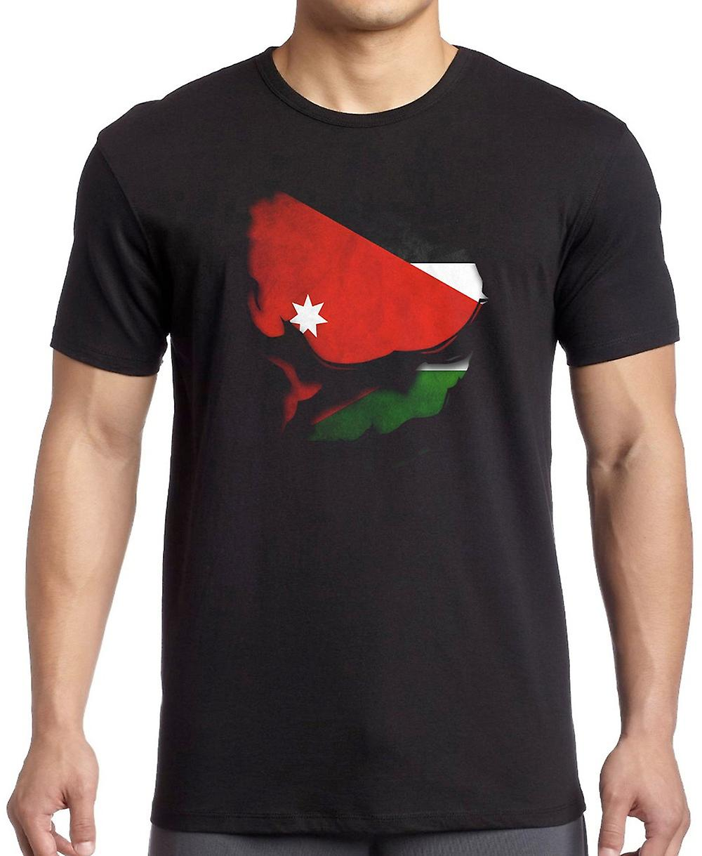 Kuwait Kuwaiti Ripped Effect Under Shirt T Shirt