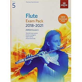 Fløjte eksamen Pack 2018-2021, ABRSM Grade 5: Valgt fra 2018-2021 pensum. Score & del, Audio Downloads, skalaer & Sight-Reading (ABRSM eksamen stykker)