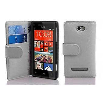 Cadorabo Hülle für HTC 8S -Handyhülle aus strukturiertem Kunstleder mit Standfunktion und Kartenfach – Case Cover Schutzhülle Etui Tasche Book Klapp Style