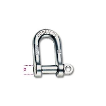 Beta 080250008 8mm Large Dee Shackle Hot Forged Carbon Steel Grade 4 Galvanized