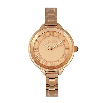 Bertha Madison Sunray Dial Bracelet Watch - Rose Gold