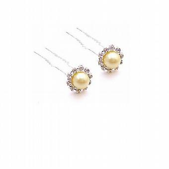Unique Available In Yellow Gold Hair Pin Wedding Hair Jewelry
