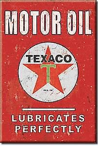 Texaco Lubricates steel fridge magnet