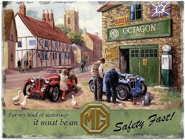 MG Service Garage metal sign  (og 2015)