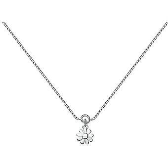 Bella Flower Charm Anklet - Silver
