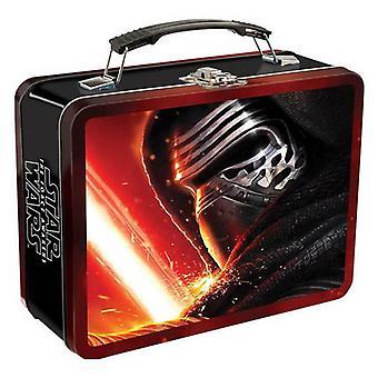 Star Wars Sammelkoffer Episode 7 Lunchbox schwarz, aus Metall, Fotoprint bunt.