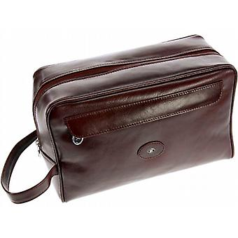Hans Kniebes Francoforte Toiletry Bag in pelle di bufalo