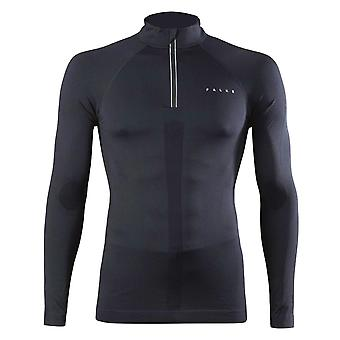 Falke Mens Zip T Shirt Long Sleeve Breathable Warm Jersey Mock Neck Stretchy