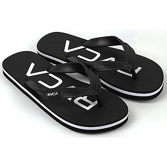 RVCA Mens VA Sport Trench Town Thong Sandals - Black/White