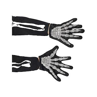 Skeleton gloves children to the Halloween skeleton costume