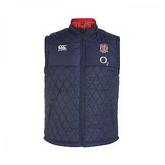2015-2016 England Rugby Padded Gilet (Navy)