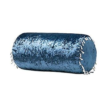 Luxurious Crushed Velvet Bolster Pillow - Dusk