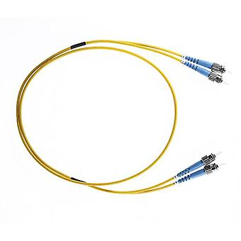 5M St St Os1 Os2 Singlemode Fibre Optic Cable Yellow