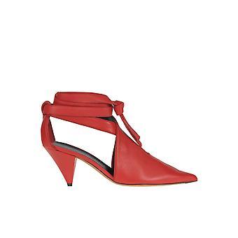 Céline Red Leather Sandals