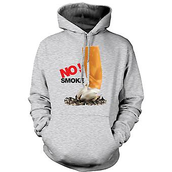 Mens Hoodie - No Smoke - Anti Smoking