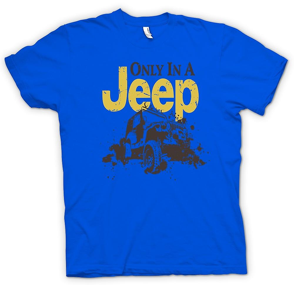Mens t-shirt - Offroad - solo In una Jeep