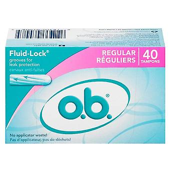 O.b. tampons, regular, 40 ea