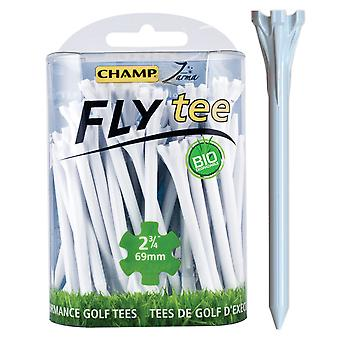 Camiseta Champ Fly Golf 69 mm 2 3/4 pulgadas blanco