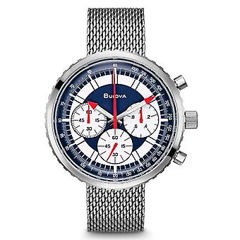 Bulova Special Edition Chronograph C 'Stars And Stripes' Mens Watch Box Set 96K101