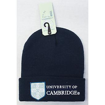 Licensed cambridge university™ ski hat beanie navy colour