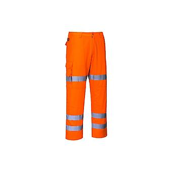 Portwest hivis three band combat trousers rt49