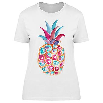 Watercolor  Abstravt Pineapple Tee Women's -Image by Shutterstock