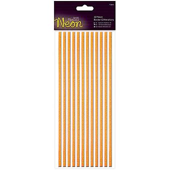 Papermania Neon Glitterations 3D grenzt 12/Pkg-Orange PM818103