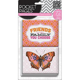 Me & My Big Ideas Pocket Pages Themed Cards 72Pcs Friends Mmbi Tpc 7
