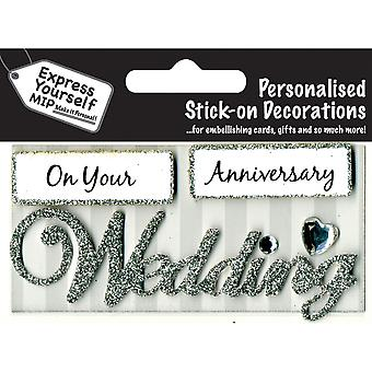 Express Yourself MIP 3D Sticker-Hochzeit-DIYTC003