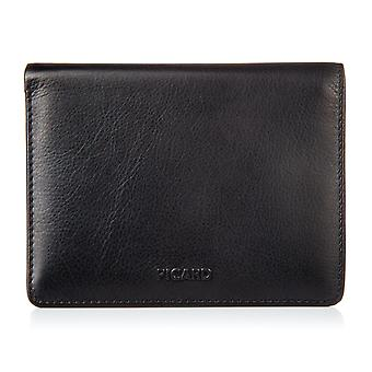 Picard Brooklyn wallet 10 cards coins leather black