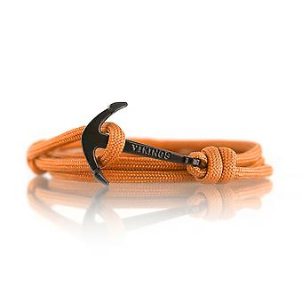 Vikings Black-line anchor strap nylon in orange with black anchor