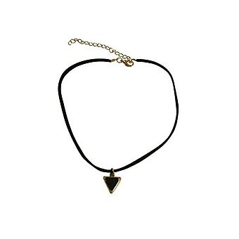 Minimalist statement choker necklace with black triangle