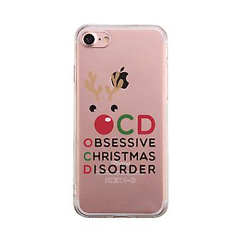 OCD Obsessive Christmas Disorder Transparent Cute Clear Phonecase