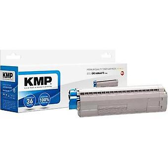 KMP Toner cartridge replaced OKI 44844615 Compatible Cyan 7300 pages O-T46