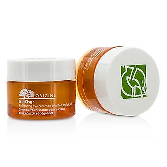 Origins GinZing Refreshing Eye Cream To Brighten and Depuff Duo Pack (Unboxed) 2x15g/0.5oz