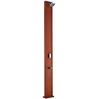 Gre Square Solar Shower 32 L - aluminum - wood effect