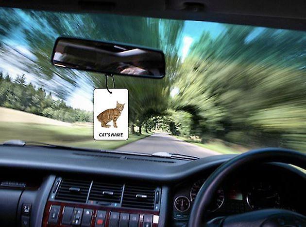 Gepersonaliseerde Manx kat auto luchtverfrisser