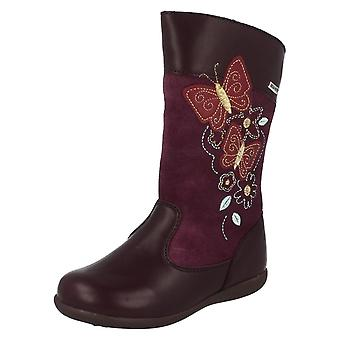 Girls Aqua Rite by Startrite Mid Calf Decorative Boots Aqua Flutter