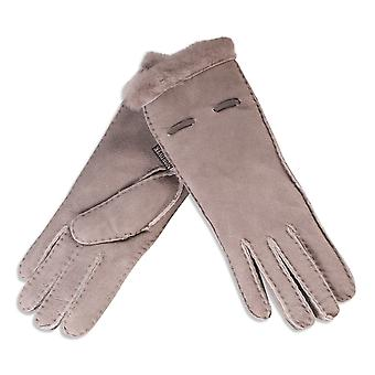 Nordvek Ladies Real Sheepskin Gloves With Lace Detail Womens Genuine 317-100