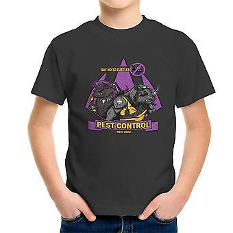 Pest Control Bebop og Rocksteady Teenage Mutant Ninja Turtles Kid's T-Shirt