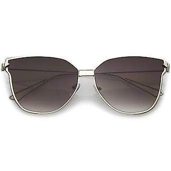 彩色フラット レンズやワイヤで特大の猫の目のサングラスの武器 59 mm