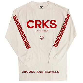 Crooks & Castles Greco Crks Long Sleeve T-shirt White