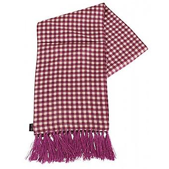Knightsbridge Neckwear Checked Aviator Silk Scarf - Purple