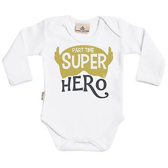 Spoilt Rotten Part Time Super Hero Organic Babygrow