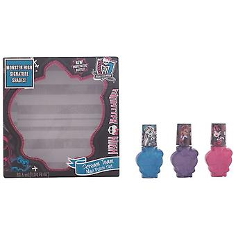 Monster High Scream Team Nail Polish Case 3 Pz (Dzieci , Kids make up)